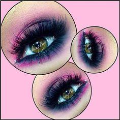 So dreamy! Makeupbyanna created luscious pink smoky eyes using Sugarpill Dollipop and Bulletproof eyeshadows.