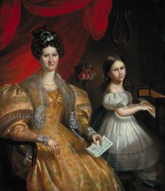 Antoine Plamondon Julie Papineau (née Bruneau) and her Daughter Ezilda 1836 National Gallery of Canada