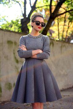 Sweater: Equipment c/o. Skirt: JW Anderson. Shoes: Stuart Weitzman (old but similar here). Sunglasses: Karen Walker 'Super Duper'. Lips: Stila 'Beso'  -  Atlantic-Pacific