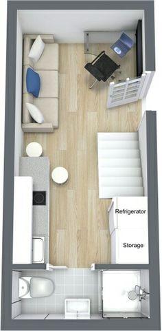 Casa pequena container com loft