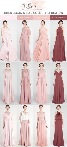 blush, dusty rose, sand pink and canyon rose mismatched bridesmaid dresses - Outfit ideen - Wedding Dresses Inexpensive Bridesmaid Dresses, Dusty Rose Bridesmaid Dresses, Blush Pink Bridesmaid Dresses, Dusty Rose Dress, Wedding Dresses, Rose Pink Dress, Wedding Bridesmaids, Dresses Near Me, The Dress