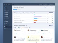 Hello everyone,  Here is progress on our ongoing product design evolution. This screen is for the new feature under Survey Analytics along with the new navigation and header design. We'd love to he...