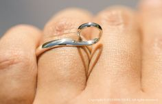 The Shadow Heart Ring made of sterling silver.