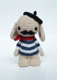 Monsieur Moustache the cute amigurumi doll. by CreepyandCute, €26.50