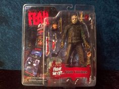 Rare Friday the Part 6 Jason Voorhees Action Figure MIP Horror Movie Friday The 13th Toys, Scary Movies, Horror Movies, Jason Voorhees Action Figure, Horror Action Figures, 8th Birthday, Birthday Ideas, Creepy Dolls, Sideshow Collectibles