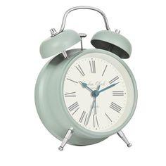 London Clock Medium Charlotte Alarm Clock, Sage Green, x x Tabletop Clocks, Mantel Clocks, Sunrise Alarm Clock, Alarm Companies, Green Clocks, Anniversary Clock, Recycled Brick, London Clock, Desktop Clock