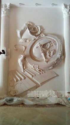 Valeriy Kudrin sculptural decoration - a bas-relief in the interior. My works. | OK