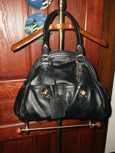 Big Buddha Addison Black Dome Satchel Handbag