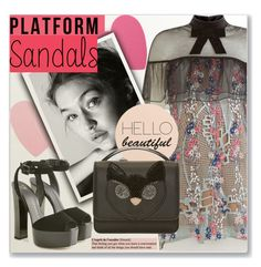 """Platform Sandals"" by myfashionwardrobestyle ❤ liked on Polyvore featuring self-portrait, Sephora Collection, Giuseppe Zanotti, MSGM, platforms, platformsandals and polyvoreeditorial"