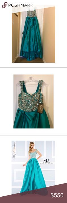 Prom/evening dress/gown Jade green evening gown. No return Mac Duggal Dresses Maxi