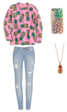 """""""Madi's Favorite Fruit"""" by bigsiscorinne on Polyvore featuring J.Crew, Casetify and True Rocks"""