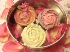3 Valentines day Mothers day Cupcake soap  by DivineSoapyDelights, $18.00