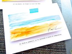 A Watercolor Beach | Bonita Rose, Life.Love.Color.Art a life unrehearsed