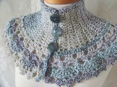 crochet cowl...inspiration.  I must get out some practice yarn and find a way to make this!