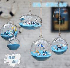 Terrarium Glass Bottle Micro Landscape Hanging Decoration Home Décor Ocean Style…
