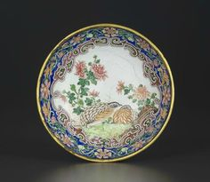 A small and finely painted enamel 'Quail' dish , Qianlong ruby-enamelled four-character mark within double squares and of the period (1736-1795). Photo Christie's Image Ltd 2014