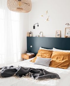 my scandinavian home: A Charming French Family Home Full of Inspiring Details Blue Bedroom, Home Decor Bedroom, Modern Bedroom, Teen Bedroom, Bedroom Furniture, Bedroom Ideas, Bedrooms, Contemporary Bedroom, Modern Contemporary