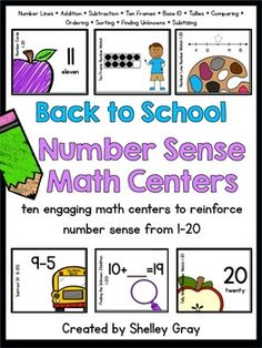 Back-to-School Number Sense Math Centers    $