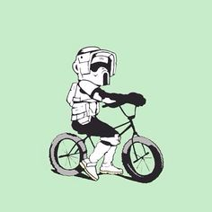 BMX Biker Scout  #illustration #drawing #artistsoninstagram #graphicart #graphicdesign #digitalart #digitaldesign #digitaldrawing #visualarts #modernart #lowbrow #lowbrowart #popart #popsurrealism #comicart #instaart #deviantart #contemporaryart #newcontemporary #scouttrooper #speederbike #stormtrooper #starwars #starwarsart #bmx #bmxbike #bmxlife by woollygoat
