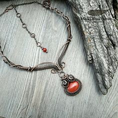 Elven Wire Wrapped Copper & Jasper Choker Necklace by MyWillowGems