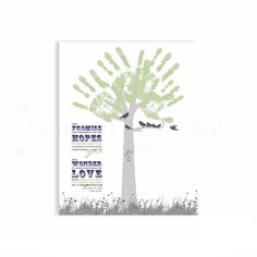 DIY Gift for a Grandparent Handprint Tree, Classic style #PaperRamma