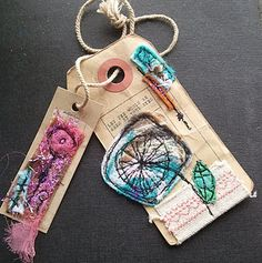 Free machine embroidery - something I'd love to try (when I have a sewing machine and more time!)..