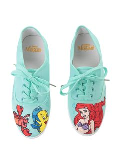 Did you SEA these? // Disney The Little Mermaid Mint Character Lace Up Sneakers