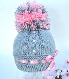 Knitting Pattern Baby Hat Baby Beanie Knit Pattern door Solnishko43