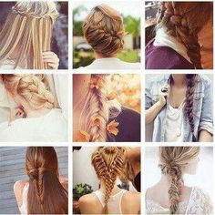 I love braids, and styling my hair :) Everyday Hairstyles, Trendy Hairstyles, Braided Hairstyles, Fashion Hairstyles, Hair Inspo, Hair Inspiration, Different Braids, Corte Y Color, Hair Dos