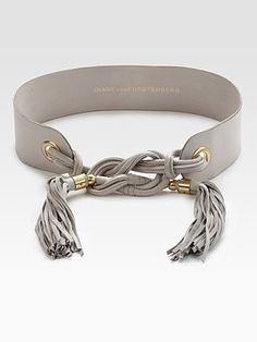 I would rock this DVF belt with all my Amelia James dresses! Leather Tassel, Leather Belts, Leather Jewelry, Leather Craft, Leather Accessories, Jewelry Accessories, Fashion Accessories, Style Board, Diy Jewelry