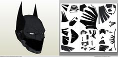 Papercraft .pdo file template for Batman Arkham Knight - Beyond Helmet +FOAM+.