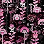 In the Beginning Musings by Jason Yenter Linear Floral Pink Cotton Fabric Pink Daisy, Floral Flowers, Florals, Etsy Shipping, Printing On Fabric, Create Yourself, Vines, Swatch, Print Patterns