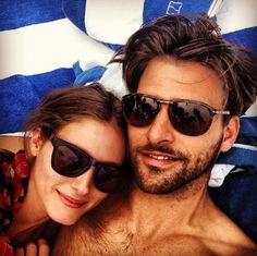 Olivia Palermo and Johannes Huebl in Miami Beach