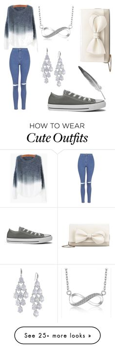 """""""Cute little outfit"""" by madibug001 on Polyvore featuring Topshop, Converse, Carolee, RED Valentino, women's clothing, women's fashion, women, female, woman and misses"""