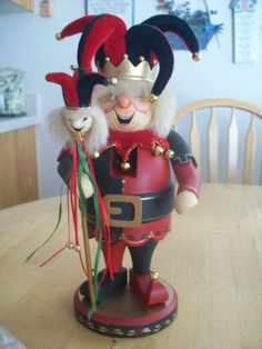 "ZIM'S HEIRLOOM COLLECTIBLES NUTCRACKER FEATURING RARE 13"" COURT JESTER & DOLL #ZIMS"