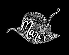 Typographic Art :: March - by Sarah Coleman, Fashion Illustrator