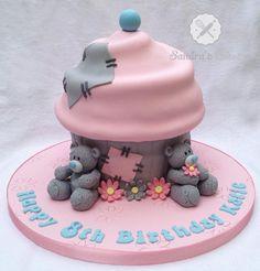 tatty Teddy Giant Cupcake - Cake by Sandra's cakes