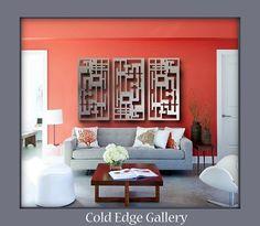 Metal Wall Art Art Decor Abstract contemporary by ColdEdgeGallery Contemporary Apartment, Contemporary Abstract Art, Contemporary Bedroom, Modern Contemporary, Large Metal Wall Art, Panel Wall Art, Hanging Art, Metal Walls, Modern Sculpture