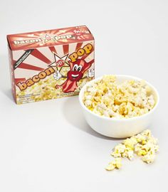 Bacon Flavored Popcorn. For the bacon lover, but who's not. lol