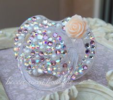 Bling Rhinestone Pacifier Paci Binky Avent Baby Bling Pacifier Novelty Item on Etsy, $24.00