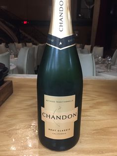 Domaine Chandon Sparkling, Napa Valley (NV) $14, $56 - Balanced with notes of almond and caramel on the nose.  Apple and pear characteristics with nutty flavors and hints of brioche that build to a refreshing, dry finish