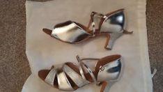 a senoras plata zapatos de baile latino salsa tacon salon de baile sandels 7 cm talla 7