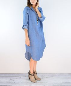 Love this Chambray Midi Dress on #zulily! #zulilyfinds