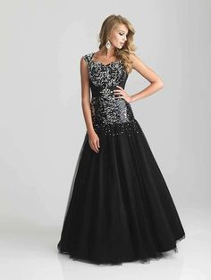 Night Moves Modest Prom 6802M