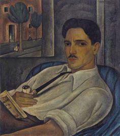 blastedheath: Victor Manuel (Cuban, 1897-1969), Portrait of the French Engraver Elié Marquié, c.1933. Oil on canvas, 24 x 21 in.