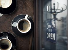 coffee..come in we're open..