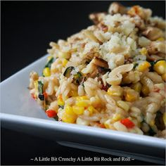A Little Bit Crunchy A Little Bit Rock and Roll: Grilled Corn and Pepper Risotto with Toasted Walnuts