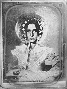 """The first photographic portrait. It was taken by John William Draper of his sister Dorothy Catherine. Draper was a physician, Professor of Chemistry, pioneer of photography and the first successful astrophotographer. ©Mona Evans """"Photography and the Birth of Astrophysics"""" http://www.bellaonline.com/articles"""