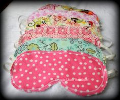 Set of 6 Beauty Sleep Masks Custom Made for Little Girl's Slumber Party Sleepover Party Favors