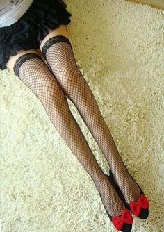 Wishlist Shopping, Red Shorts, Fishnet, Tights, Stockings, Legs, Black And White, Bb, Goth